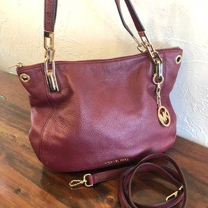 Michael Kors raspberry leather bag
